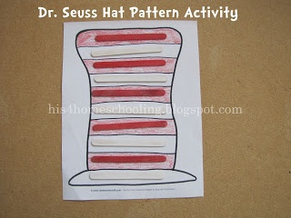 dr seuss hat craft h is for homeschooling dr seuss hat pattern activity 4280