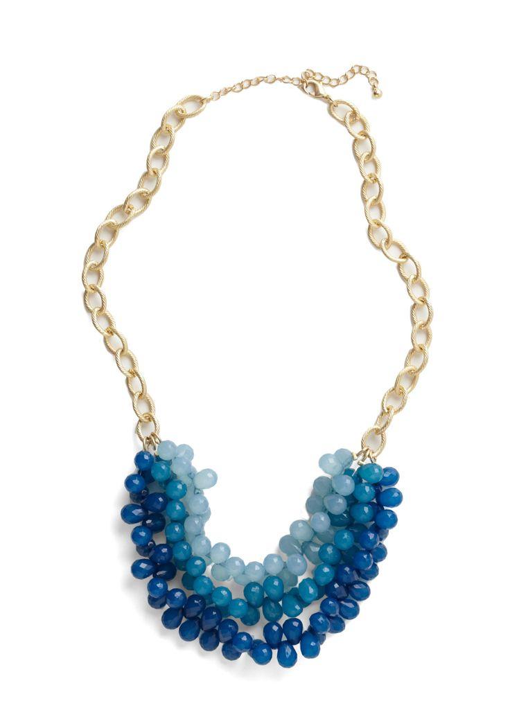 Tidal Crave NecklaceCravings Necklaces, Statement Necklaces, Style, Tidal Cravings, Blue Necklaces, Jewelry, Accessories, Vintage Necklaces, Blue Beads Necklaces