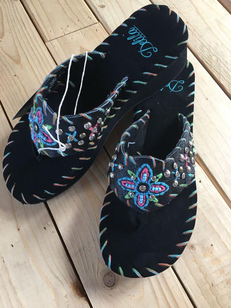 Floral rivet bling flip flops shoes