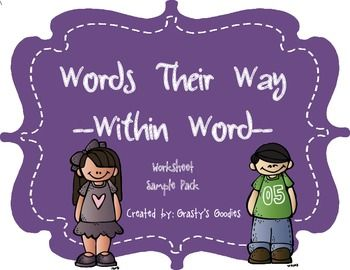 {Free Sample} Words Their Way - Within Word Spellers - Worksheets