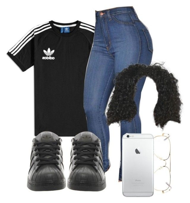 """All good nebu kiniza✨✨"" by baddiest-bish ❤ liked on Polyvore featuring adidas"