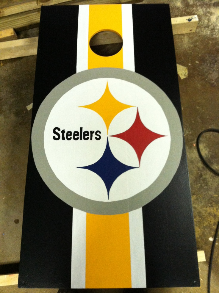 Pittsburg Steelers Cornhole Board Cornhole Lawn Games
