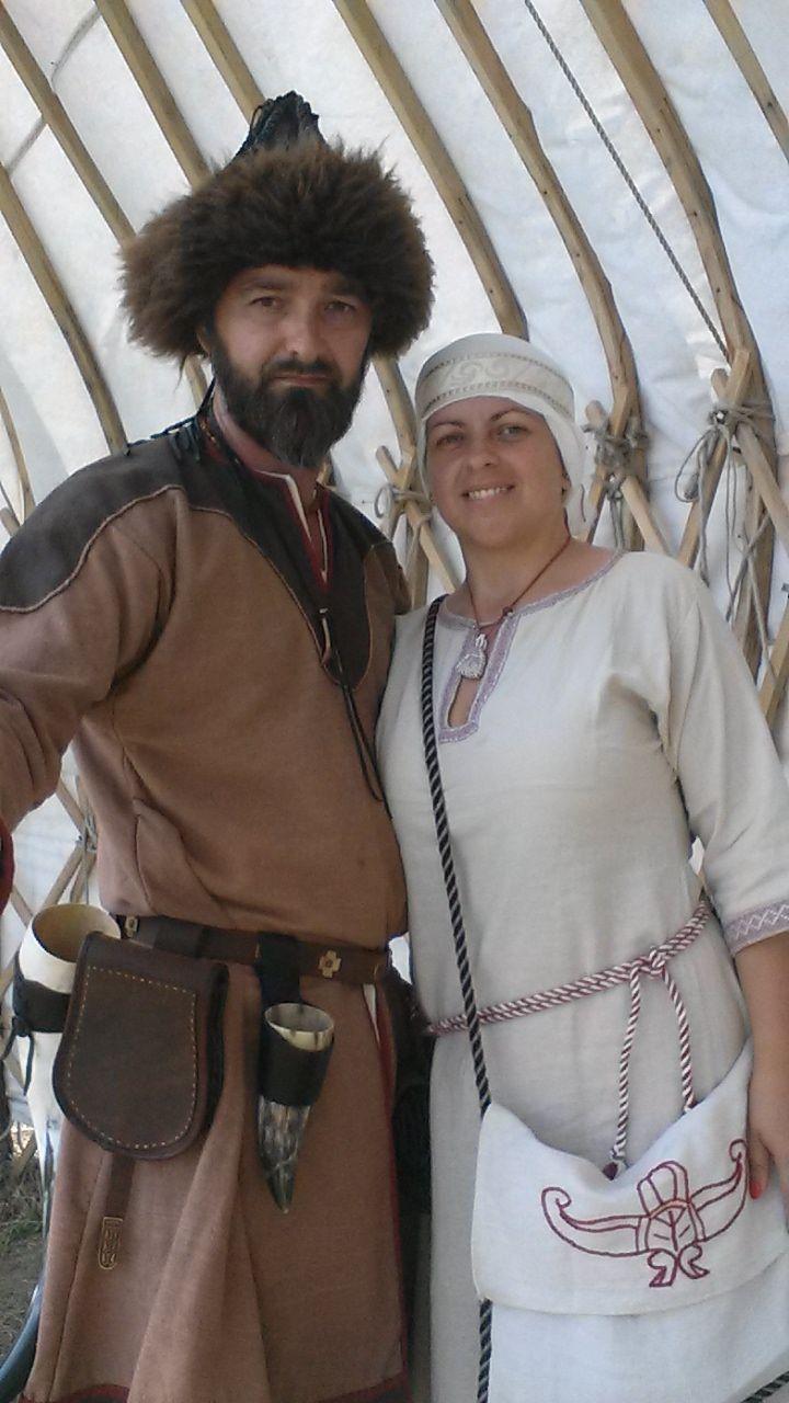 Hungarian conquering man and woman