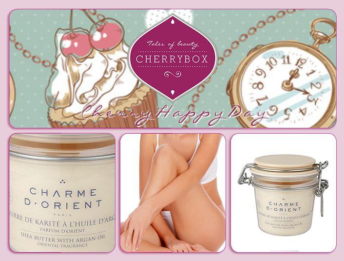 #CherryHappyDay today! Μόνο για σήμερα Τετάρτη 6/11/13, αποκτήστε το μοναδικό Βούτυρο Καριτέ της #CharmeDOrient με 25€ & 1 ακόμη full size προϊόν δώρο! http://cherrybox.gr/charme-d-orient-%CE%B2%CE%BF%CF%8D%CF%84%CF%85%CF%81%CE%BF-%CE%BA%CE%B1%CF%81%CE%B9%CF%84%CE%AD-shea-butter-%CE%BC%CE%B5-argan-oil-200gr