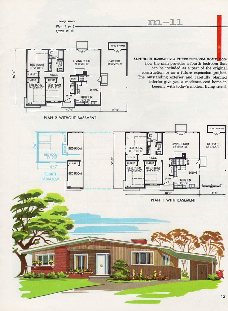 205 best retro house plans designs images on pinterest for Moderate house plans
