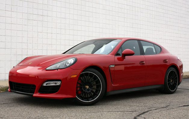 2013 Porsche Panamera GTS - front three-quarter view, Carmine Red