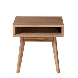 Table d'appoint scandinave chêne 1 niche Skoll DRAWER