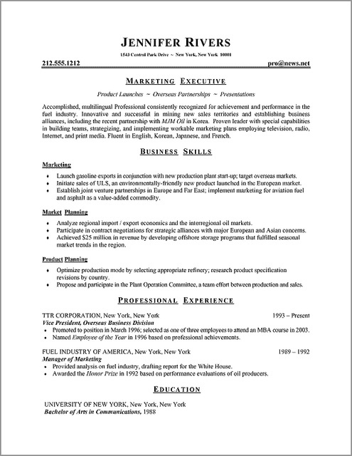 Ow To Choose The Best Resume Format, Sample Resume Formats, Formatting Tips  And Advice, Resume Writing Guidelines, And Resume Examples And Templates