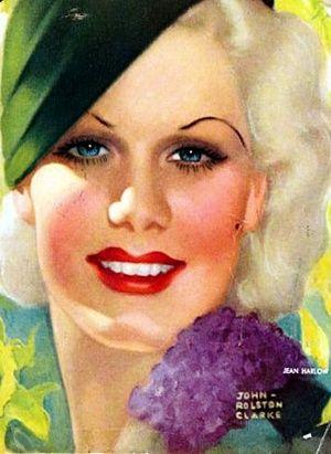 Jean Harlow-vintage magazine cover