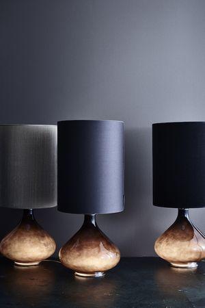 flavia lamp with standard shade: 30x70h – 2.100 DKK Flavia lamp with rue verte shade: 30x70h – 2.350 dkk