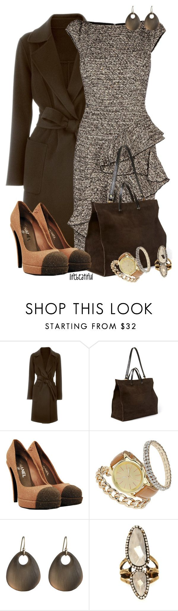 """""""High Powered Business Meeting Contest #1"""" by lifebeautiful ❤ liked on Polyvore featuring IRIS VON ARNIM, Clare V., Chanel, Miss Selfridge, Alexis Bittar and House of Harlow 1960"""