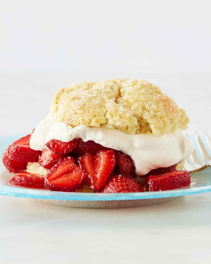Buttery biscuits and freshly whipped cream are a delicious way showcase summer strawberries. Martha made this recipe on episode 709 of Martha Bakes.