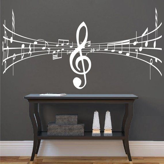 Music Wall Decal Studio Music Symbol Art Mural Music Room Sticker