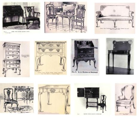 Photos of Queen Anne Furniture to help you identify antique furniture  styles. - 15 Best Antique Furniture Info Images On Pinterest Antique