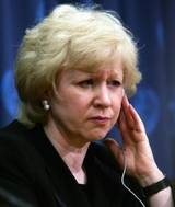Kim Campbell, the first woman Prime Minister of Canada