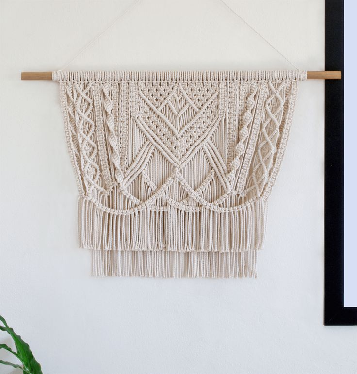 Halette | One of a kind handmade Macramé wall hanging by Macramé Mons. One piece revealed each fortnight on a Monday ✖️