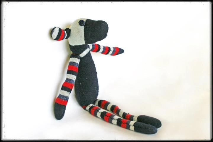 Sock Dog... Community Craft Group, Christchurch New Zealand.