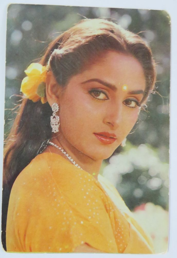 JAYA PRADHA INDIAN MOVIE ACTRESS BOLLYWOOD Picture postcard 15 X 10 CM OLD -175