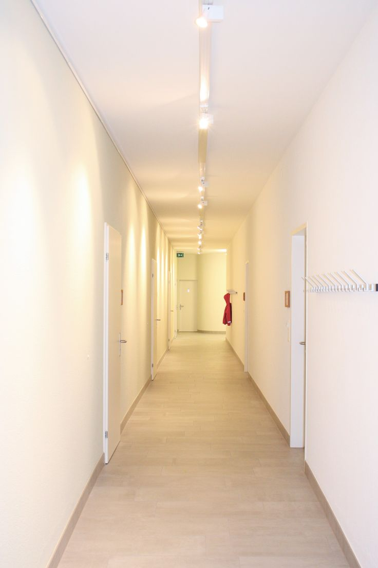 White corridor from our church project