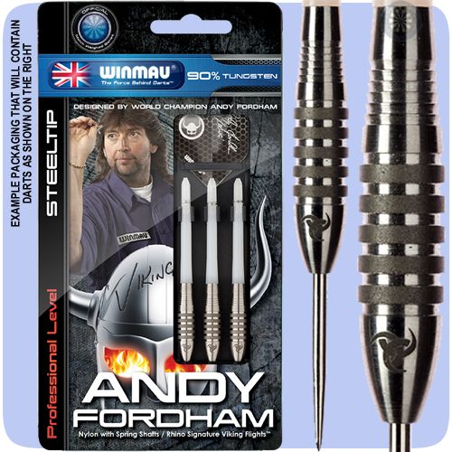 Steel Tip Tungsten Darts - Winmau - Andy Fordham - The Viking - Atomised Grip - 26g - http://www.dartscorner.co.uk/product_info.php?products_id=35359