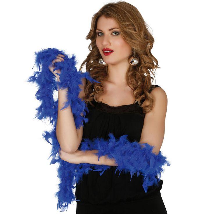 Boa Azul Económica #boasdisfraz #accesoriosdisfraz #accesoriosphotocall