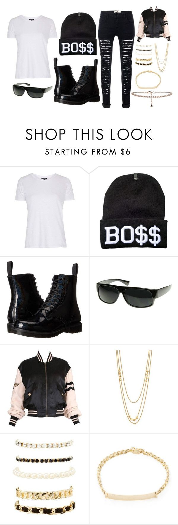 """Rapper"" by lauren53103 on Polyvore featuring Topshop, Dr. Martens, ZeroUV, Moschino, Gorjana, Charlotte Russe, Shay, New Look, Costume and rapper"