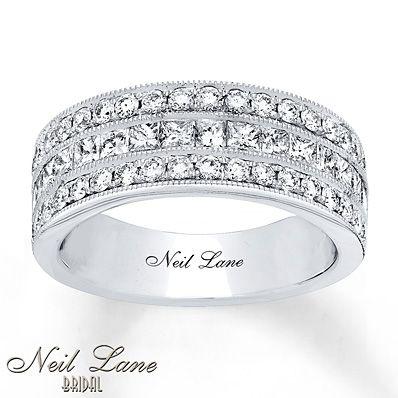 Neil Lane Bridal Ring 1 1/2 ct tw Diamonds 14K White Gold