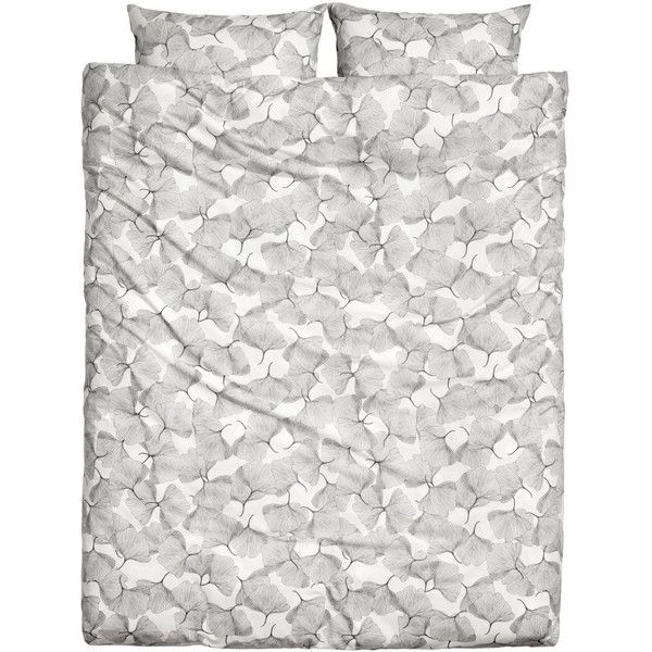 Patterned Duvet Cover Set $49.99 ($50) ❤ liked on Polyvore featuring home, bed & bath, bedding, duvet covers, king pillowcases, white duvet set, king size pillow cases, king pillow cases and white duvet cover set