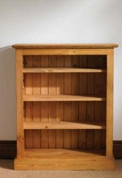 mottisfont waxed pine furniture small bookcase