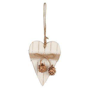D co de no l coeur en bois d co de no l pour un sapin de - Decoration coeur en bois ...