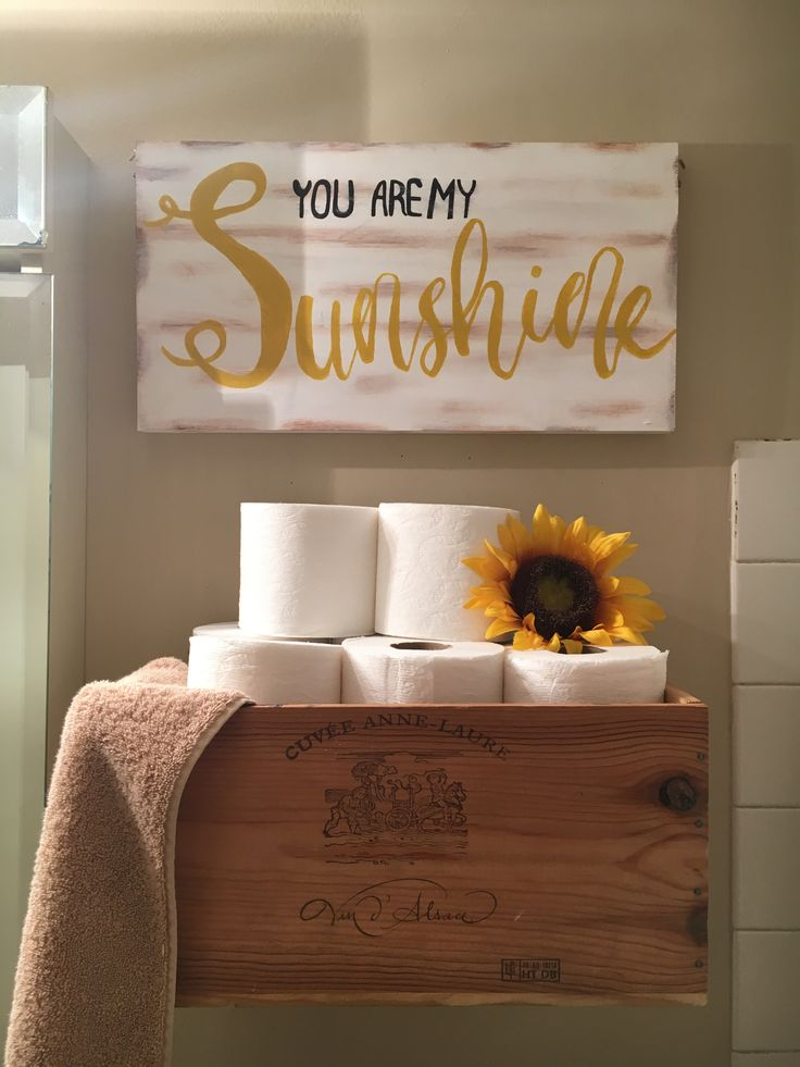 rustic yellow bathroom idea