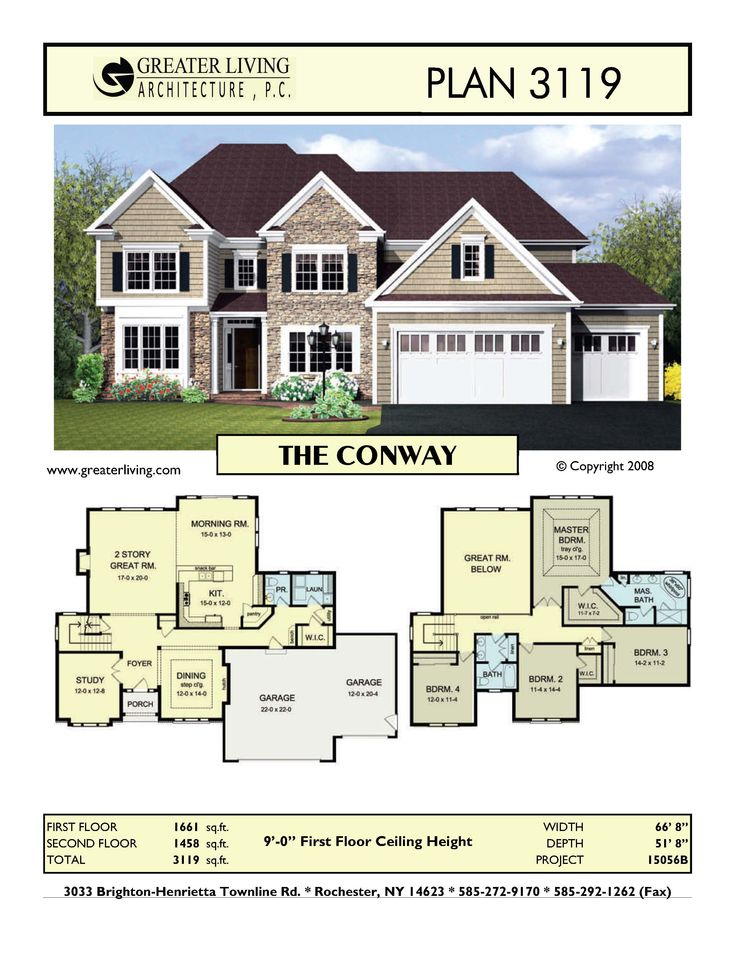 Plan 3119 THE CONWAY Sims house plans, House blueprints