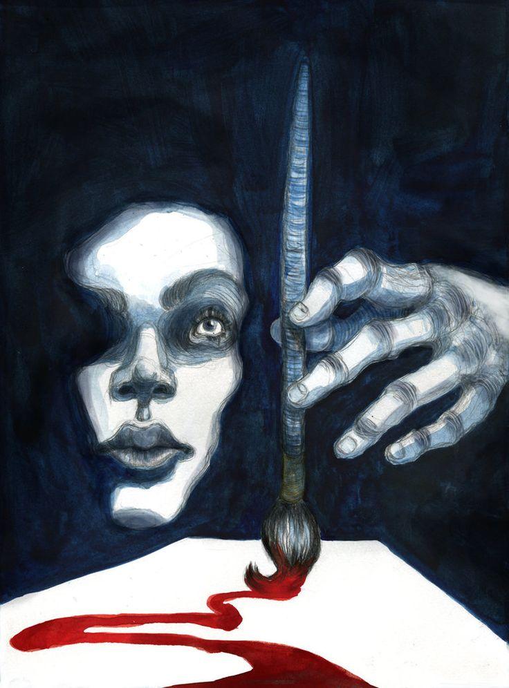 """month of fear - darkness"" - artwork by eileen marie tretter - sashura art"