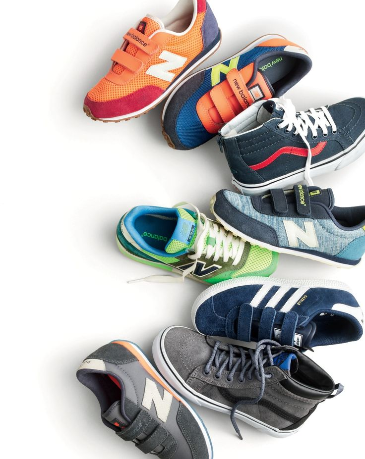 Mini sneakerhead alert. Check out these New Balance® for crewcuts kicks (in custom colors!), cool canvas Vans®, classic Adidas® styles and more.