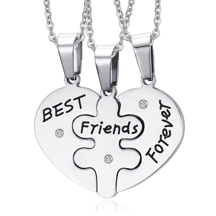 Best Freinds Forever 3 in1 Heart Necklace