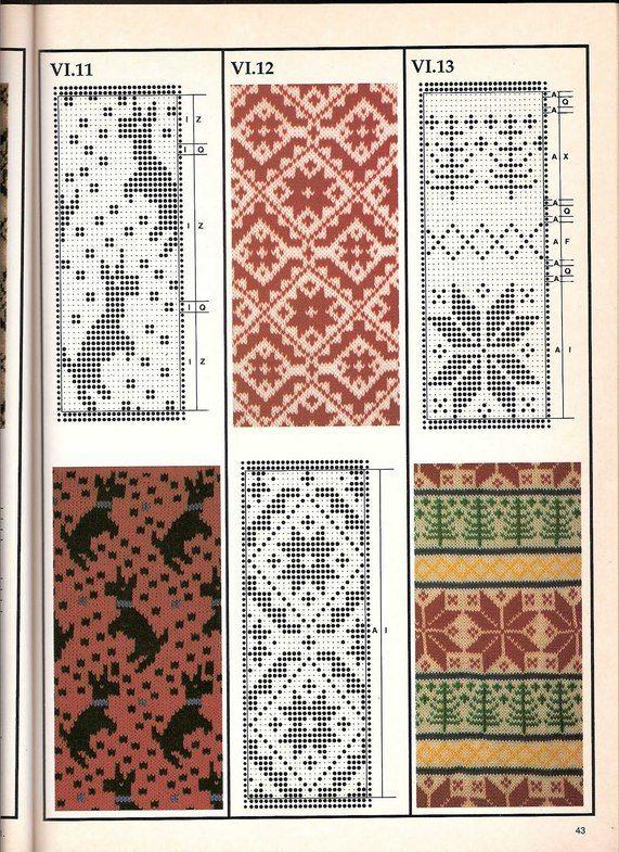 telpatroon springende OTheo OBep Машинное вязание - жаккард Машинное вязание - жаккард #42