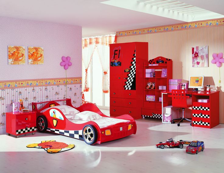 Otomobil Temalı Çocuk Odası Örnekleri