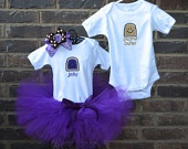 Peanut Butter and Jelly Boy/Girl TWIN ONESIE, TUTU, and Bow Set Twin Halloween Costume