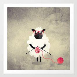 Knitting Prints   Society6