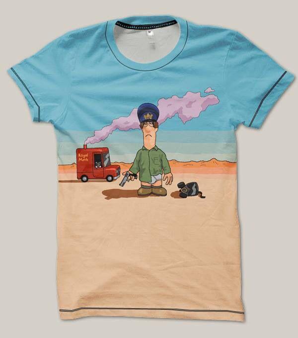 Postman Pat/ Breaking Bad T-Shirt