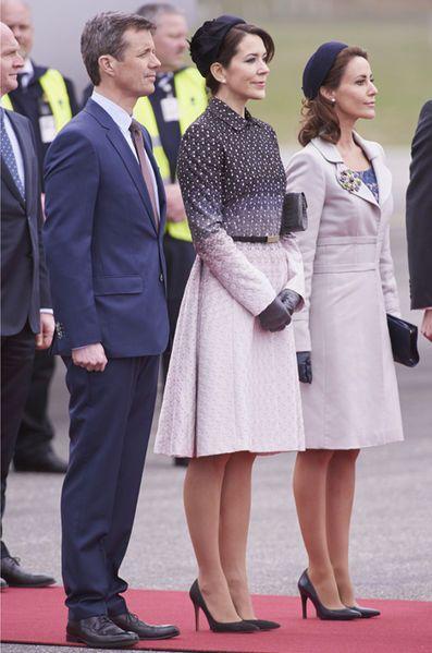 Le prince Frederik et les princesses Mary et Marie de Danemark à Copenhague, le 13 avril 2016