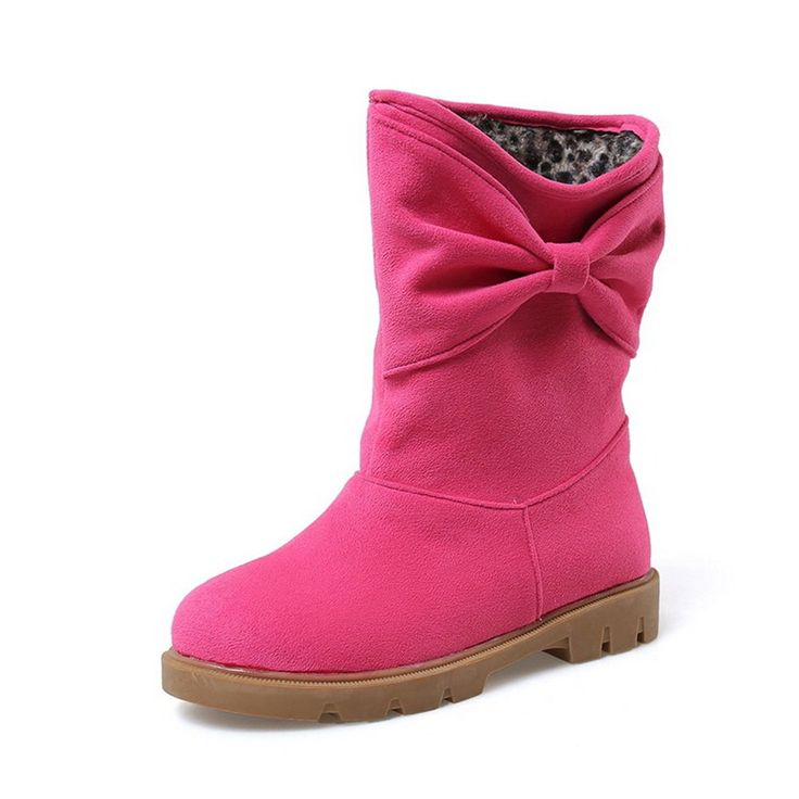Girls Tassels Platform Pull-On Watermelonred Frosted Boots - 5 B(M) US