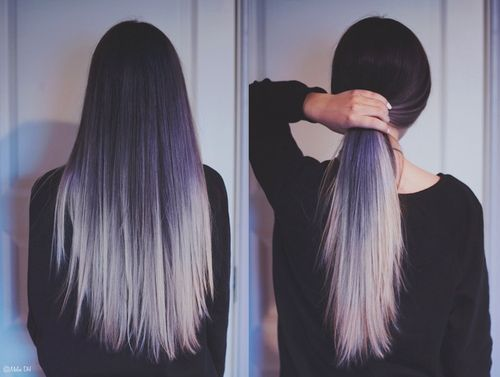 White And Black Ombre Hair