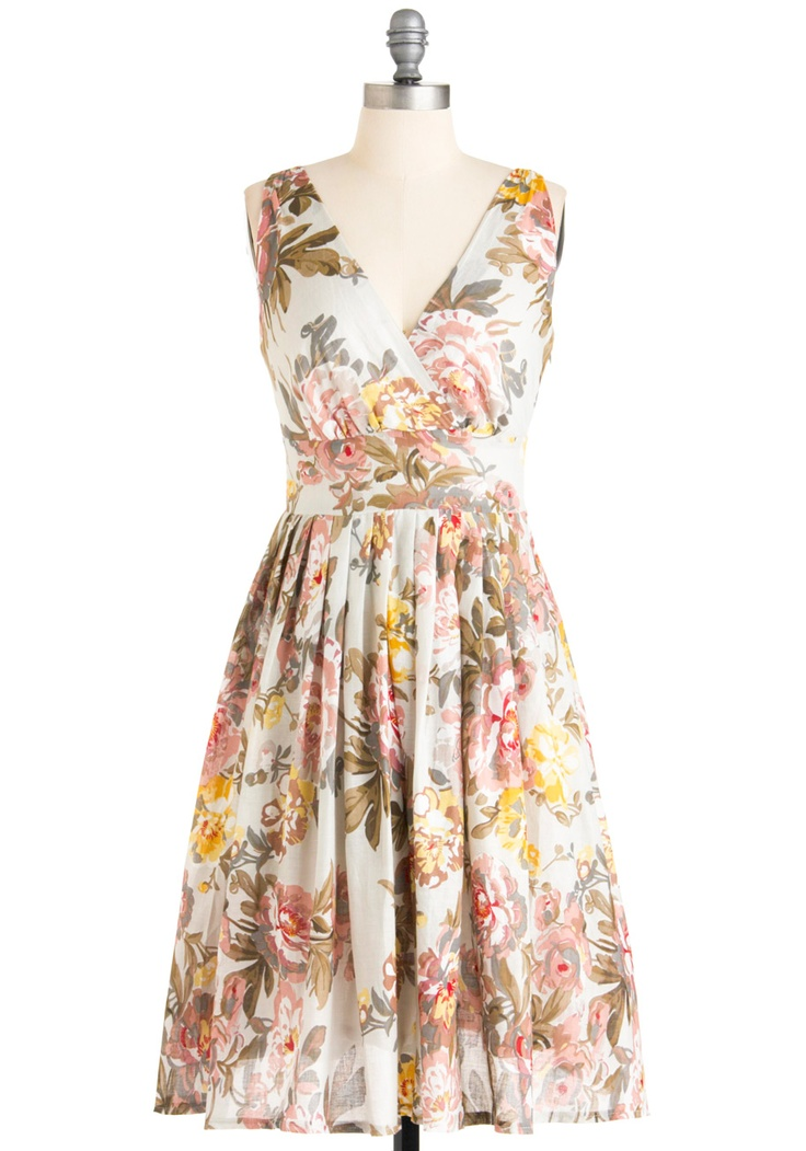classyEaster Dress, Fashion, Glamour Power, Style, Clothing, Modcloth, Brownish Dresses, Dreams Dresses, Floral Dresses