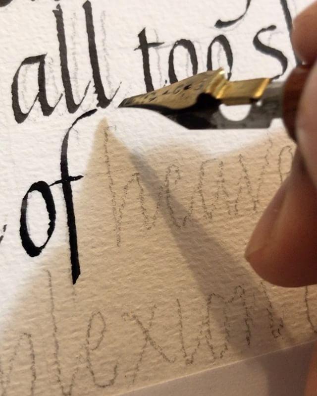 Condensed Italic . #huyhoangdao #calligraphy #penmanship #handwriting #lettering #typography #flourishing #birdflourishing #copperplate #spencerian #pointedpen #obliqueholder #iampeth #vsco #photography #calligraphymasters