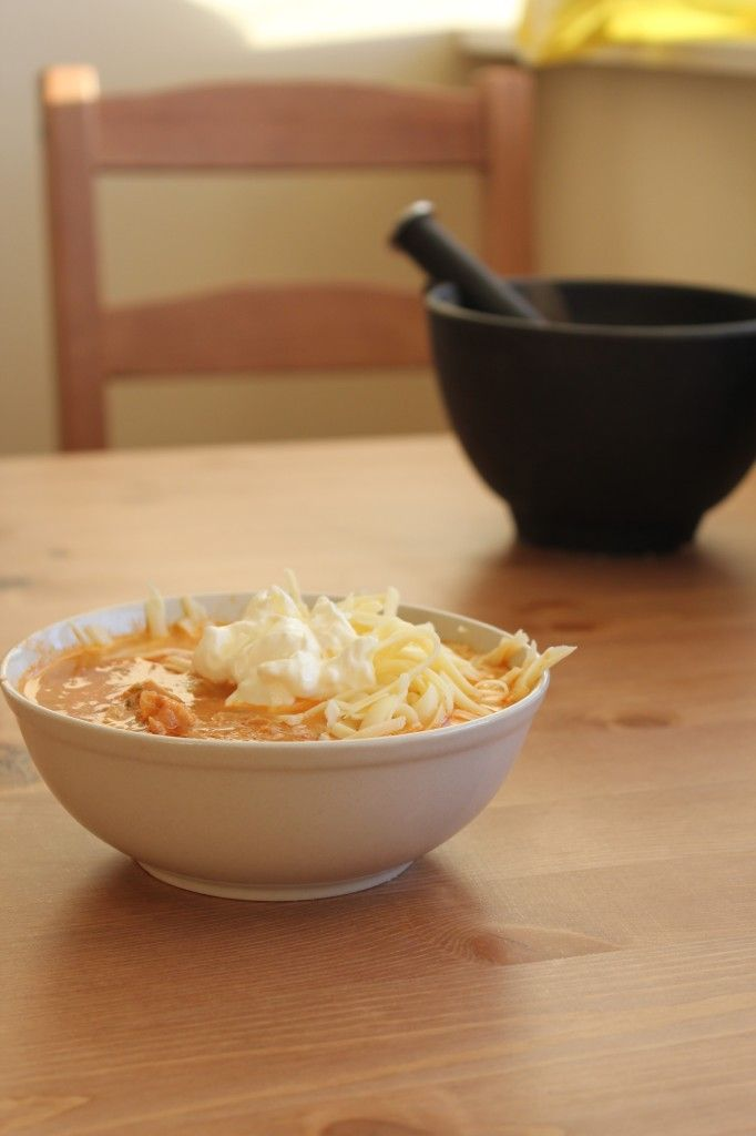 low carb mexican chicken soup loaded with sour cream and shredded cheese -  #keto #lchf (I made this soup today and I have to say..it was fabulous...FR)