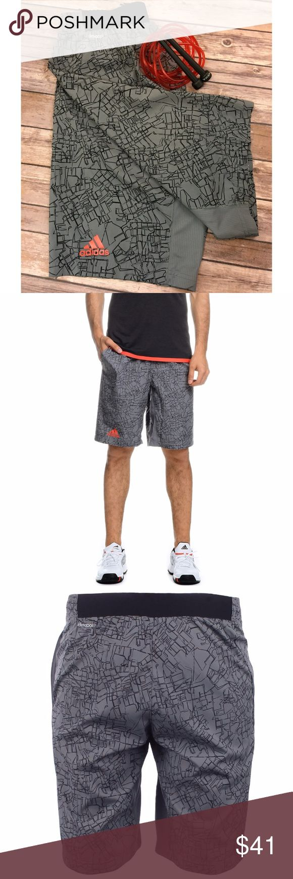 Adidas Response Mens Bermuda Shorts S15716 NWOT* The Bermuda adidas Performance Response gray/black/red features the brand's stylish, localized logo, plus two pockets, apparent cutouts and elastic waistband. Made of 100% polyester, with UV protection and Climacool technology, it offers soft touch and controls perspiration.   Size: Mens Medium Measurements:  Waist-29in Inseam-10in Front Rise- 10.5in Adidas Shorts Athletic
