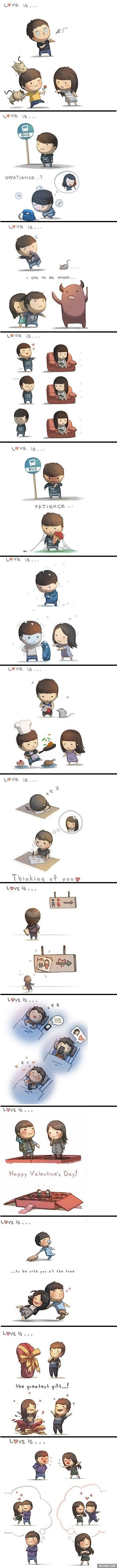Love is... from HJ story (the artist draws these for his wife):