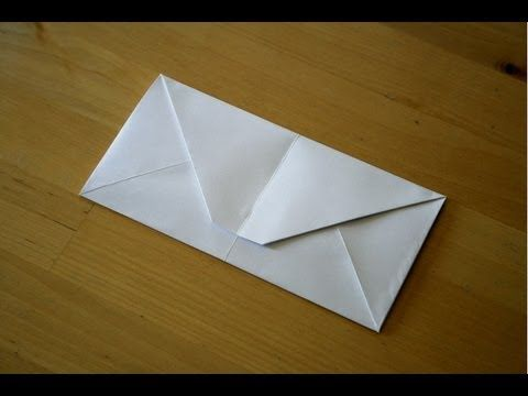 How to make an origami paper envelope (no tape or glue needed) - YouTube