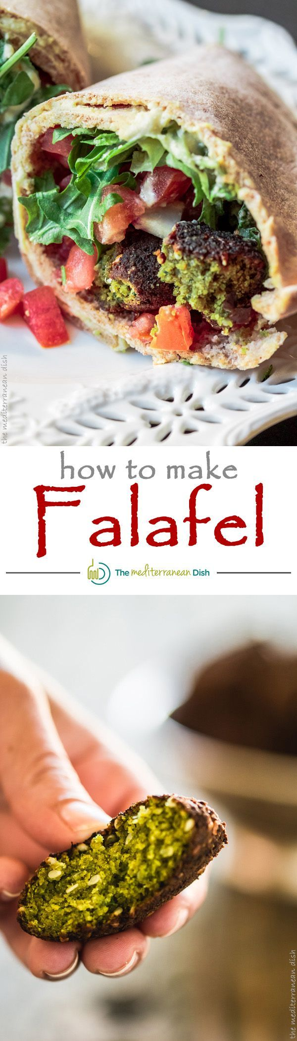 Learn how to make falafel. It is easier than you think! Here is a delicious, flavor-packed and authentic recipe with step-by-step photos from The Mediterranean Dish!